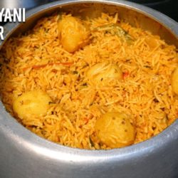 Aloo Biryani in Cooker