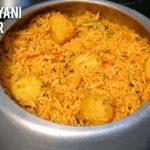Aloo Biryani in Cooker