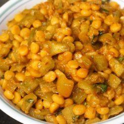Beerakaya Masala Senagapappu Curry