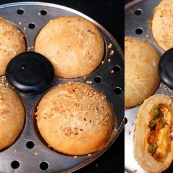 Vegetable Buns in Idli Cooker